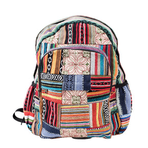 Stripes and Patchwork Backpack