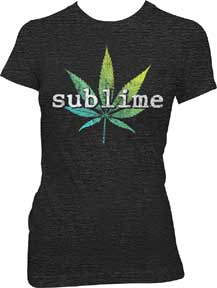 Sublime Leaf Ladies T-Shirt