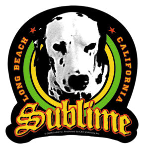 Sublime Lou Dog Green Sticker