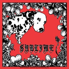 Sublime Lou Dog Red Sticker
