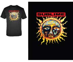 Sublime Sun New Black T-Shirt