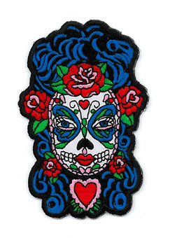 Sugar Skull Butterfly Lady Patch