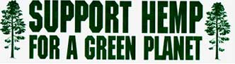 Support Hemp for a Green Planet Bumper Sticker