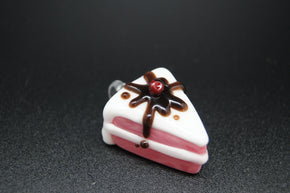Sweet Shop Glass Cake Slice Pendant