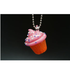 Sweet Shop Glass Cupcake Pendant