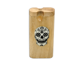 Swivel Top Glow in the Dark Sugar Skull Dugout - Large