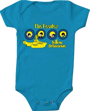 The Beatles Portholes Baby Onesie