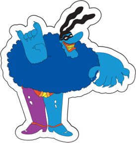 The Beatles Yellow Submarine Blue Meanie Sticker