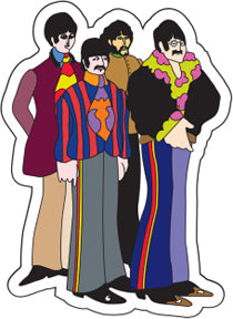 The Beatles Yellow Submarine Group Sticker