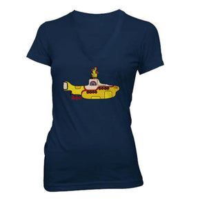 The Beatles Yellow Submarine Sequined Ladies T-Shirt