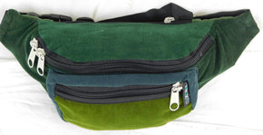 Three Pocket Fanny Pack in Corduroy - Extra Large