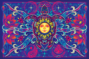 Turtle Sun Tapestry