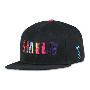 Vibe Street Smile Black Strapback Hat by Grassroots California