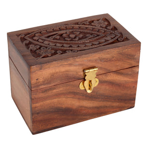 Wooden Box Essential Oil Organizer