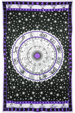 Zest For Life Zodiac Astrology Tapestry
