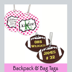 backpack tags personalized