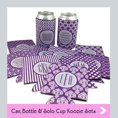 custom personalized koozie sets