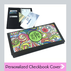 personalized checkbook covers