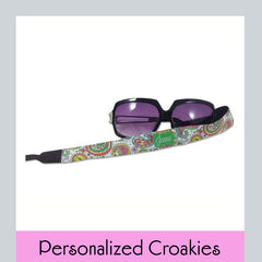 personalized croaky sunglass strap