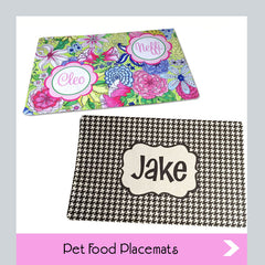 personalized pet food placemats