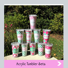 custom acrylic tumbler sets