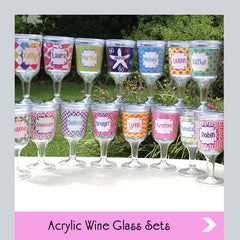 custom acrylic wine glass sets