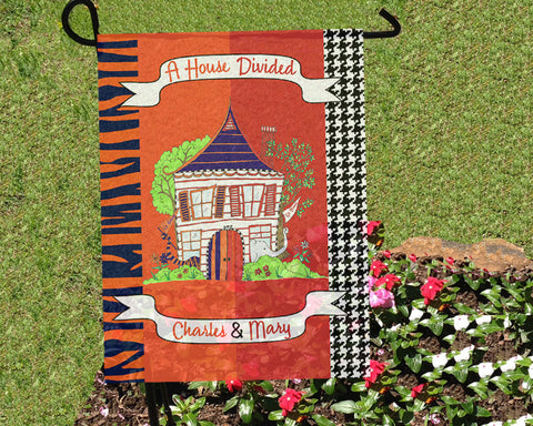 House Divided Flag Alabama Auburn Personalized With Names