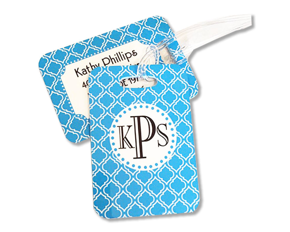 Personalized Bag Tag with Monogram Luggage Tag Name Address and Phone