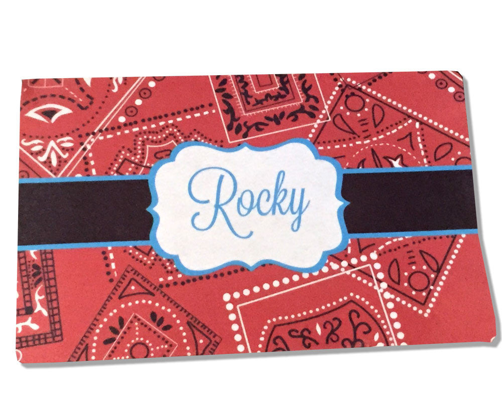 Personalized Pet Food Placemat Bandana Background