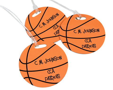 Basketball Bag Tag Sports Personalized Bag Tag