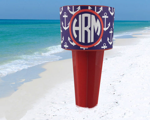 Beach Spiker Drink Holder Custom Personalized Nautical Anchor Spike