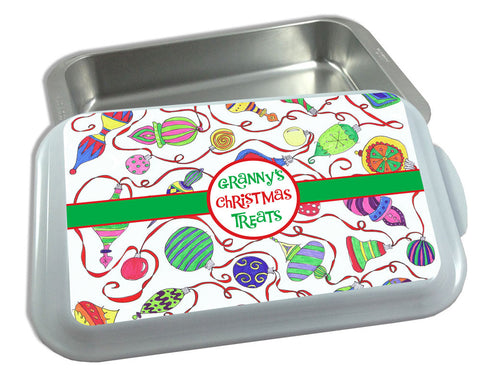 Christmas Casserole Carrier Personalized with Name Covered Casserole