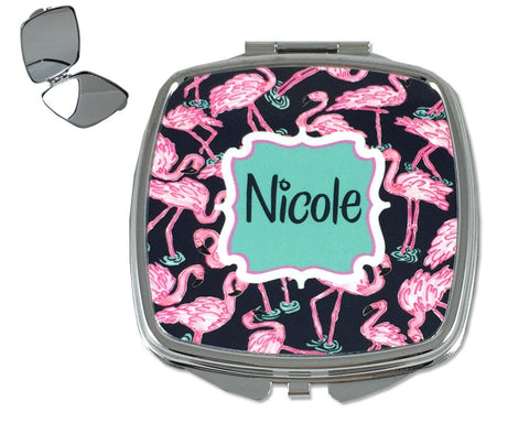 Personalized Compact Mirror for Purse with Name