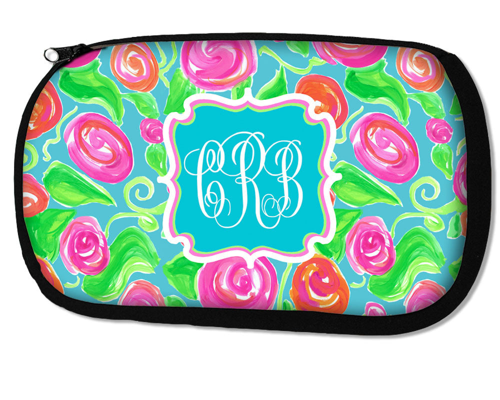 Monogrammed Cosmetic Bag Personalized Makeup Case