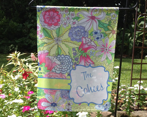 Garden Flag Personalized with Name