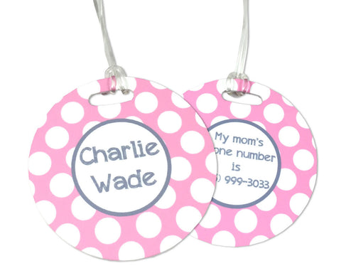 Diaper Bag Tag Personalized for Girls
