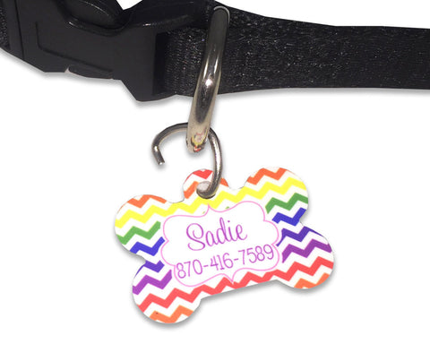 Dog ID Tag Personalized with Pet Name and Phone