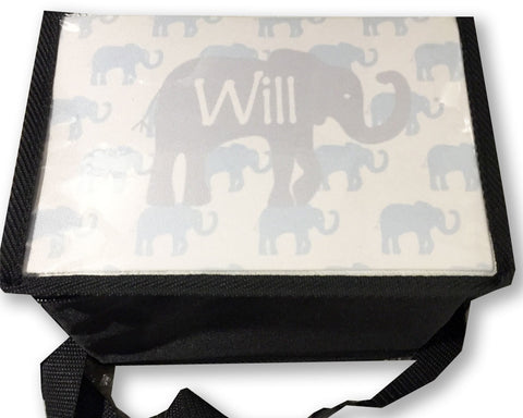 Elephant Lunch Box Insulated Lunch Carrier Personalized with Name