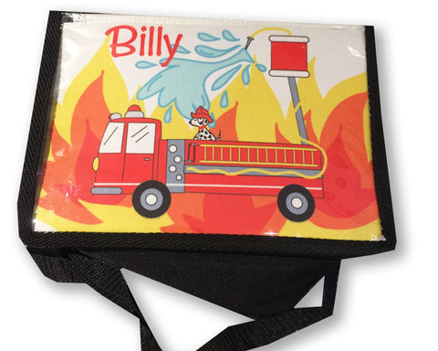 Lunch Box for Boys Insulated Lunch Box with Firetruck
