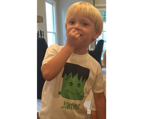 Personalized Halloween Shirt with Frankenstein and Name