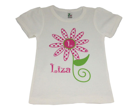 Toddler Shirt Personalized Tee Shirt with Name for Girls