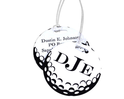 Golf Ball Bag Tag Personalized with Monogram