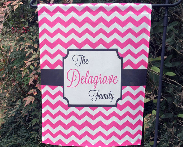 Garden Flag Personalized with Family Name