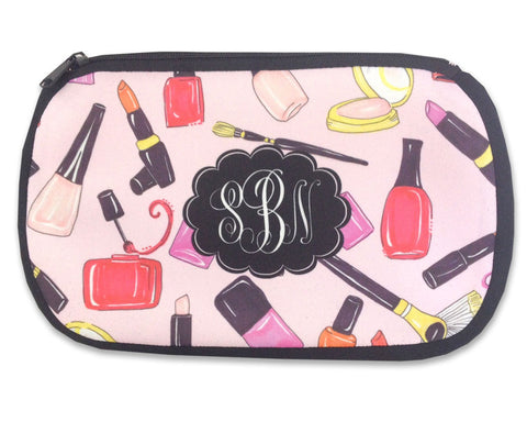 Cosmetic Bag Monogrammed Makeup Case Exclusive Design