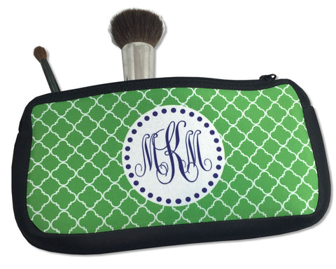 Pencil Bag or Small Cosmetic Case with Monogram