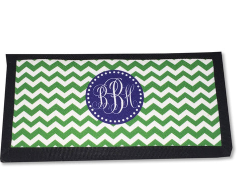 Checkbook Cover for Women with Monogram