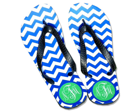 Personalized Flip Flops for Women with Monogram