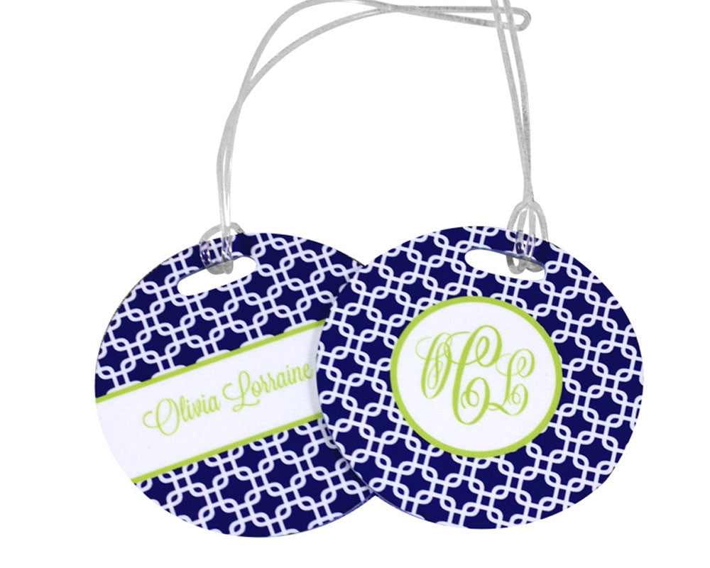Luggage Tag Personalized Bag Tag with Monogram