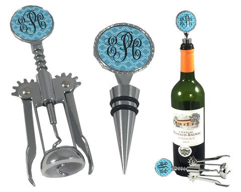 Monogrammed Wine Opener and Cork