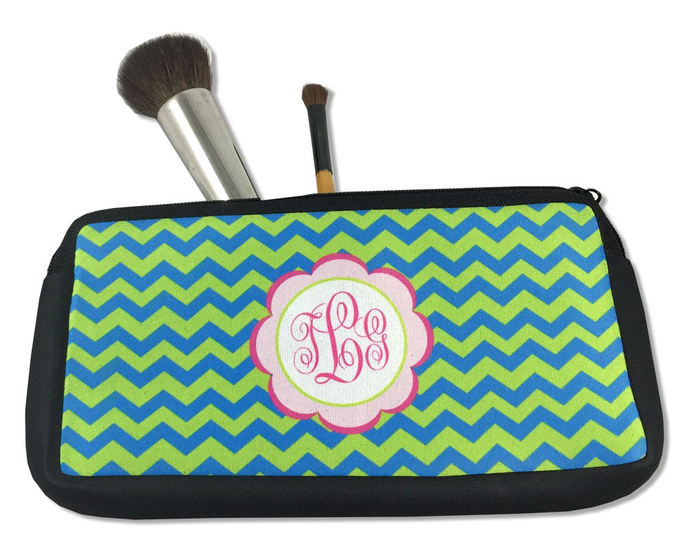 Personalized Pencil Case or Small Cosmetic Bag with Monogram